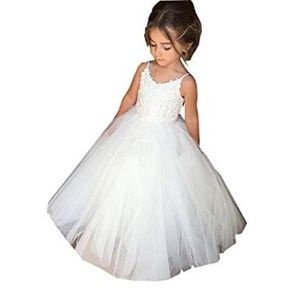 Flower Girls Lace Tulle Ball Gowns 4-5